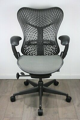 UK & EU Delivery | Herman Miller Mirra Chairs | Graphite Grey | Triflex Backrest