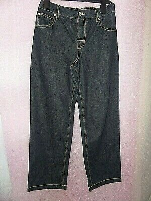 Age 12 Years Marks And Spencer Straight Dark Navy Jeans Bnwt Elasticated Waist