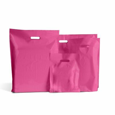 Shocking Pink Classic Plastic Carrier Bags [Standard Grade]