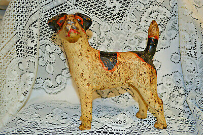Vintage Cast Iron Fox Terrier Figure Door Stop, Maybe Williams ???