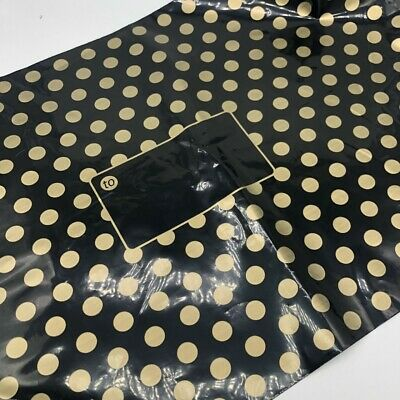 Black With Gold Polka Dot Mailing Bags Choose Size/Qty