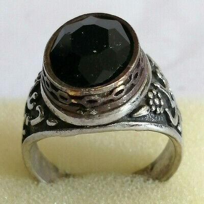 Post Medieval Silver Ring With Beautiful Filigree With Nice Stone Inserts