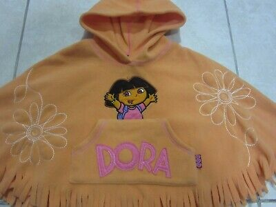 Dora The Explorer Warm Hooded Poncho - Age 2 Years