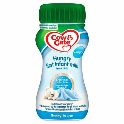 12x Cow & Gate Hungry First Infant Milk from Birth 200ml
