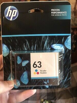 HP 63 Brand New Color Ink Cartridge Genuine Retail $29.99