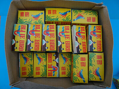 """40 Red China tin-toy vintage MS 029  lot of 40  """"Blue Birds"""" clockwork boxed"""
