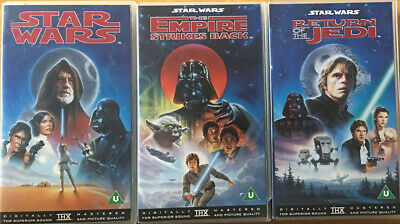 Star Wars Original Theatrical Cut Trilogy VHS Video Cassettes 1977, 1980 & 1983