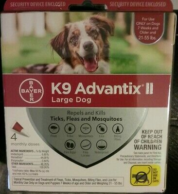 K9 Advantix Ii For Large Dog ( 4 Month Supply ) 21 - 55 Lbs