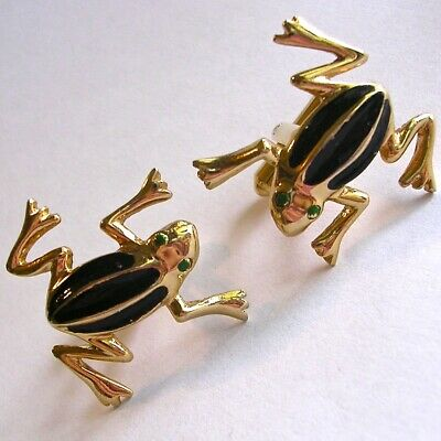 Charming vintage FROG cufflinks, excellent condition.
