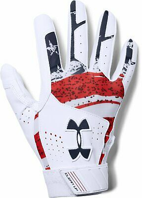 Under Armour UA Clean Up Culture Red/White/Blue Batting Gloves 1299534-103