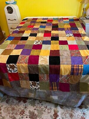 Vintage Hand Made Unfinished Quilt Patchwork Not Backed