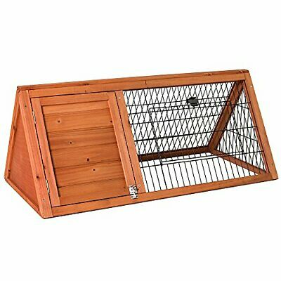 Pet Vida Wooden Pet Rabbit Hutch Triangle, Bunny Guinea Pig Cage Animal House