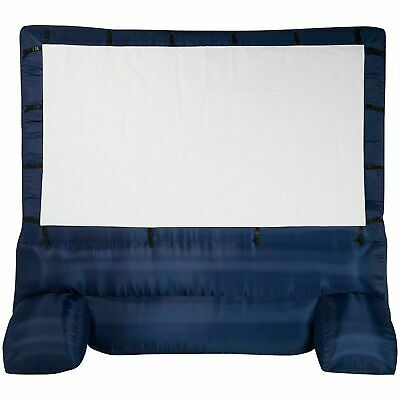 """Deluxe Airblown Movie Screen Inflatable W St NAVY & WHITE 144"""""""