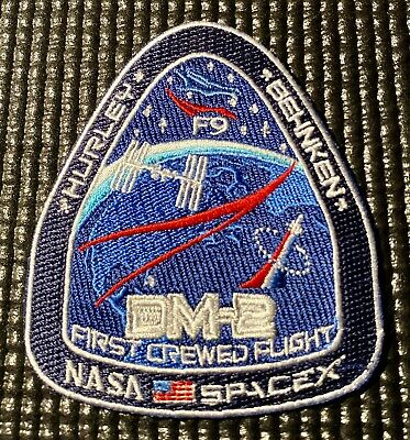 Nasa Spacex Dm-2 First Crewed Flight - F9 Iss Mission Patch