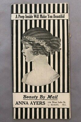 c 1910 Anna Ayers WIG Hair BEAUTY FASHION CATALOG Illustrated CHICAGO Antique