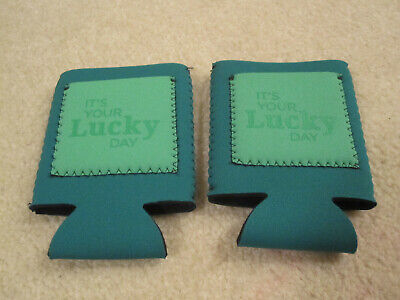 Koozies irish lucky day St Patricks day green with pocket set of 2 new