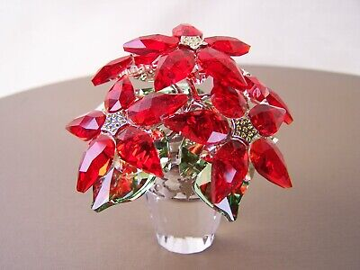 Beautiful Swarovski Large Poinsettia!  MINT Condition! #2