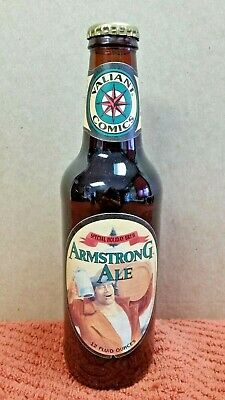 1993 Valiant Comics Armstrong Ale Special Holiday Brew Bottle Marvel Spider-Man