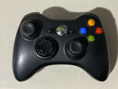 VG Official Microsoft Xbox 360 BLACK Wireless Controller Genuine Original OEM