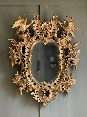 18th century Georgian style carved giltwood mirror probably 19th or 20th century