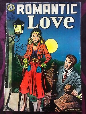 Romantic Love, Avon #20 3/4-'54, VG+/F, Kinstler Cover and Art, Great Cover
