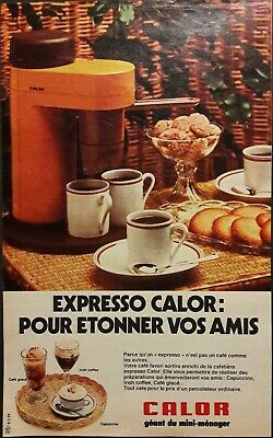 Pub papier Advertising Expresso Calor Café 1974  18 x 29,5 cm