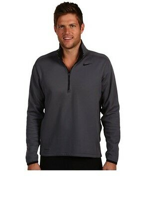 Sweat zip NIKE Therma-Fit Gris/Noir Taille L NEUF Homme Golf Running