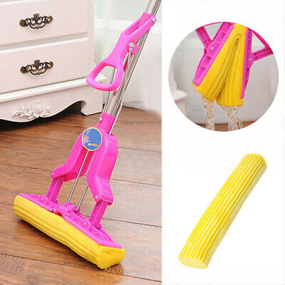 EVA Sponge Foam Rubber Mop Head 28 CM Home Floor Cleaning Tools Parts Yellow