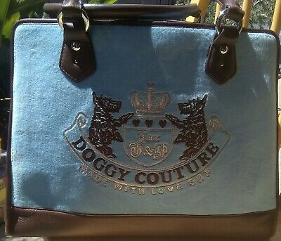 Juicy Couture - Dog Carrier HandBag - Doggy Couture - Animal Cat Pet - Used