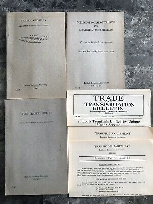Vintage 1923-1924 Course In Traffic Management LaSalle Extention University