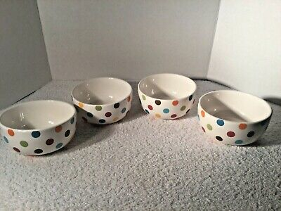 Set of 4 Pier 1 One Confetti Cereal Bowls
