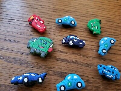 Disney Cars Set Of 9 Shoe Charms Lot For Croc Shoes Jibbitz Bracelets,Mater,Boys
