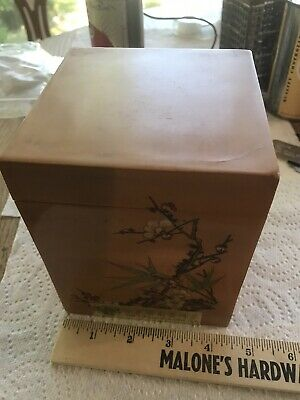 Vintage Chinese wooden bamboo box For Tea