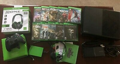 Xbox One 500 GB Console (Black) w/ 10 Games, 2 TB Extra Hard Drive, Headset, ..