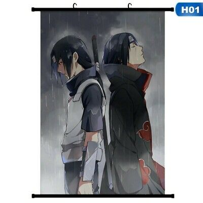 2019 Japanese Anime Sasuke Itachi Uchiha Wall Poster Canvas Scroll Painting Home