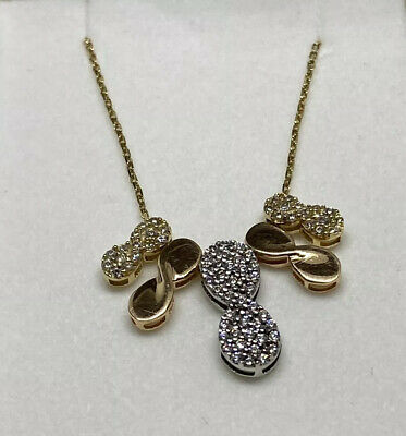 14K Yellow, White & Rose Gold Modern Infinity Necklace
