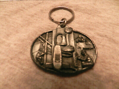 Communication Workers Key Ring w/Inscription Pewter Mint Condition Gift