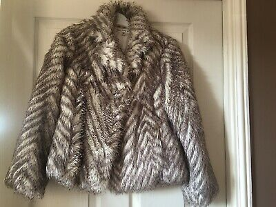 Faux Fur Jacket Age 11-12  Marks & Spencer Autograph Collection