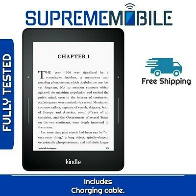 """Amazon Kindle Voyage E-reader 4GB Black WiFi Only 6"""" (300 ppi) w/ Built-in Light"""