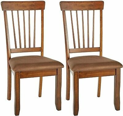 Signature Design Dining Room Chairs Set Of 2 Rustic Brown Furniture