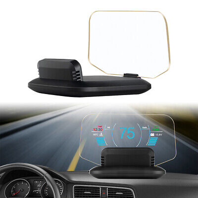 Head Up Display C1 Speed/RPM/Voltage Warning Hud System OBD2+GPS Projector Auto
