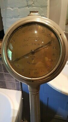 Coin Operated Edwardian Weighing Machine Antique Working Order