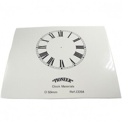 NEW White Card Paper Replacement Clock Dial 50mm Roman Numerals - CD54