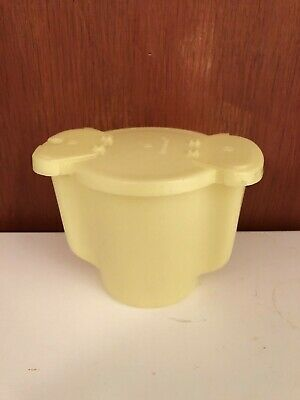 Tupperware Yellow Double Sided Flip Top Lid Sugar Containerr