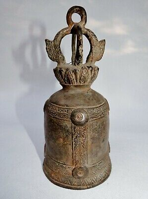 Genuine Antique 18th /19th Asian / Chinese Temple Heavy Bronze Bell
