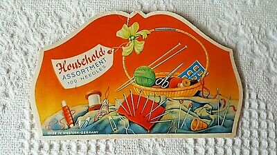 Vintage Household Assortment Sewing Needle Book West Germany RARE FREE SHIPPING!