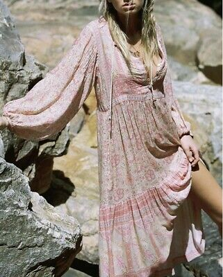 NWT Spell & the Gypsy Collective Poinciana Cotton Candy Midi Dress Size Small