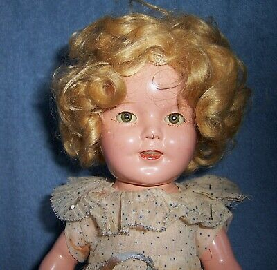 Antique Vintage Ideal Composition Doll~Tagged Dress~All Original~SHIRLEY TEMPLE