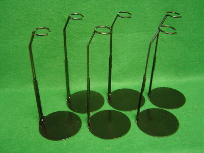 Doll Stands set of Six Black metal for 7 to 8 inch Betsy McCall  Fashion Dolls