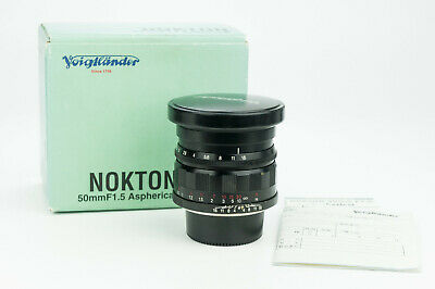 Voigtlander Nokton Aspherical 50mm 1:1.5 obiettivo lens Leica V LTM m39 screw